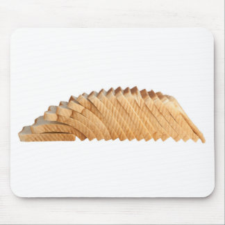 Loaf of sliced bread mouse pad
