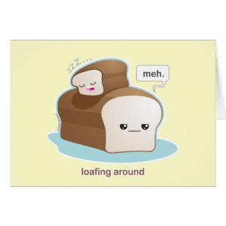 Loafing alrededor tarjeton