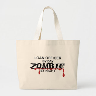 Loan Officer Zombie Large Tote Bag