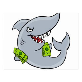 Loan Shark  Cartoon Character Postcard