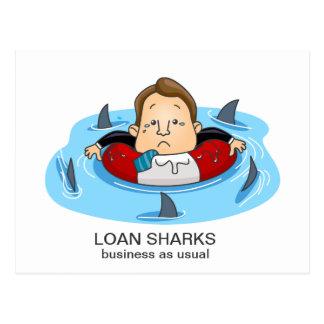 Loan Sharks Postcard