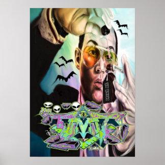 Loathing fear graffiti dmt ayahuasca poster