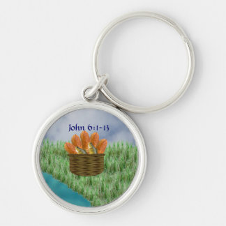 Loaves and Fishes Keychain