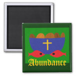 LOAVES & FISHES 2 INCH SQUARE MAGNET