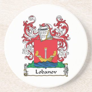 Lobanov Family Crest Coasters