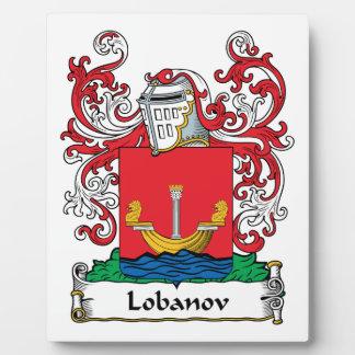 Lobanov Family Crest Display Plaques