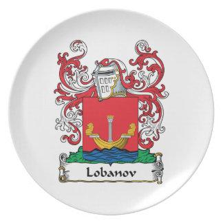 Lobanov Family Crest Dinner Plate