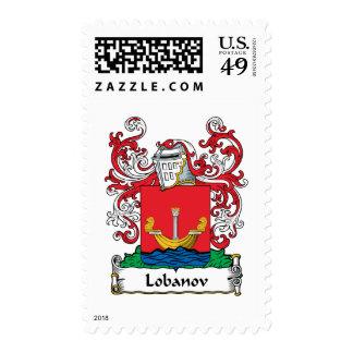 Lobanov Family Crest Postage Stamps