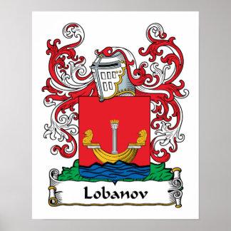 Lobanov Family Crest Poster
