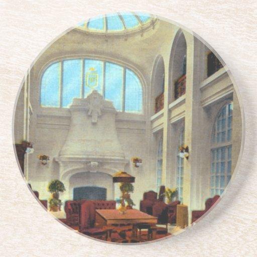 Lobby Bellevue Hotel Beverage Coaster