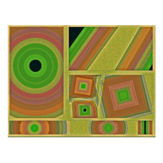 lobby hobby colors abstract modern design drawing post card