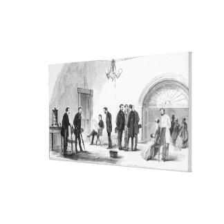 Lobby of the White House at Washington Canvas Prints