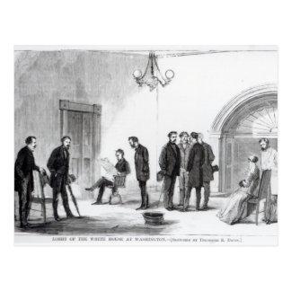 Lobby of the White House at Washington Postcard