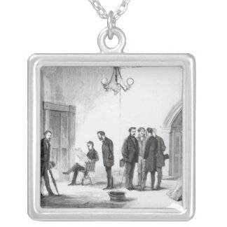 Lobby of the White House at Washington Silver Plated Necklace