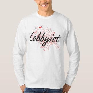 Lobbyist Artistic Job Design with Butterflies T-Shirt