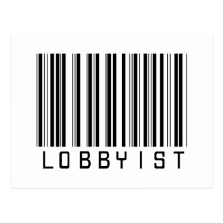 Lobbyist Bar Code Postcard