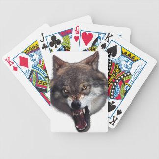 lobo 1 del gruñido barajas de cartas