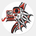 Lobo 2012 del Haida Etiquetas Redondas