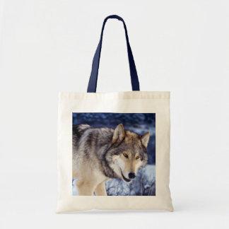 Lobo 2 del invierno bolsa tela barata