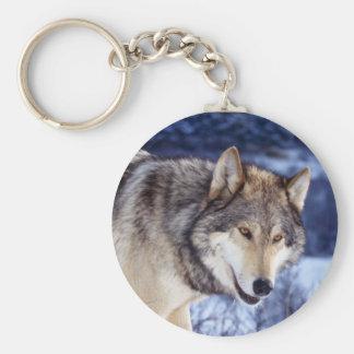 Lobo 2 del invierno llavero personalizado