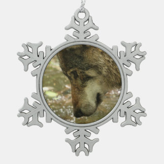 Lobo Adorno De Peltre En Forma De Copo De Nieve
