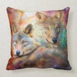 Lobo-Alcohol de la almohada del diseñador del arte