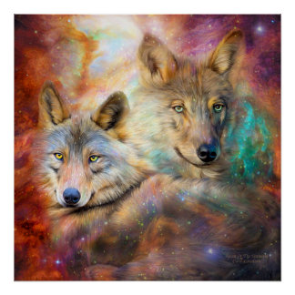 Lobo - alcohol del poster/de la impresión del arte