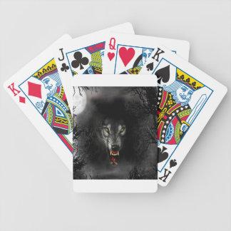 Lobo animal abstracto del gruñido barajas de cartas