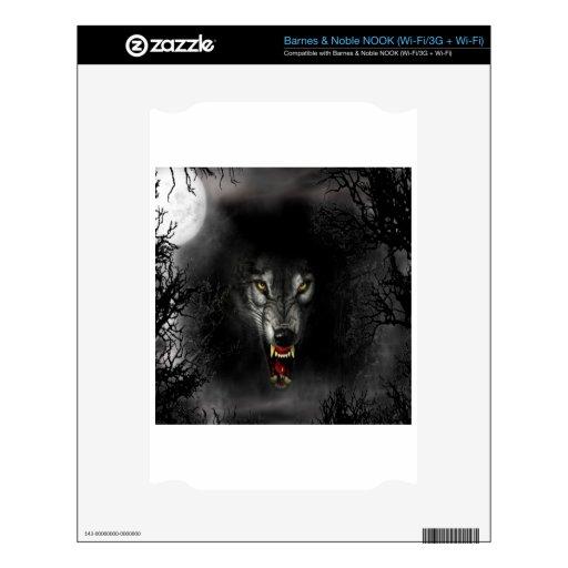 Lobo animal abstracto del gruñido NOOK skin