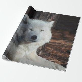 Lobo ártico adorable papel de regalo