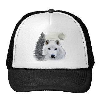 lobo ártico de la nieve gorras de camionero