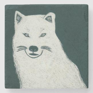 Lobo ártico posavasos de piedra