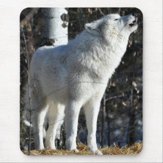 Lobo ártico tapete de ratones