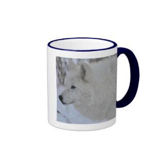 Lobo ártico taza a dos colores