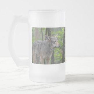 Lobo astuto taza cristal mate