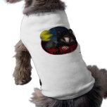 Lobo asustadizo del feliz Halloween Camisa De Perrito