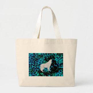 Lobo azul bolsa tela grande