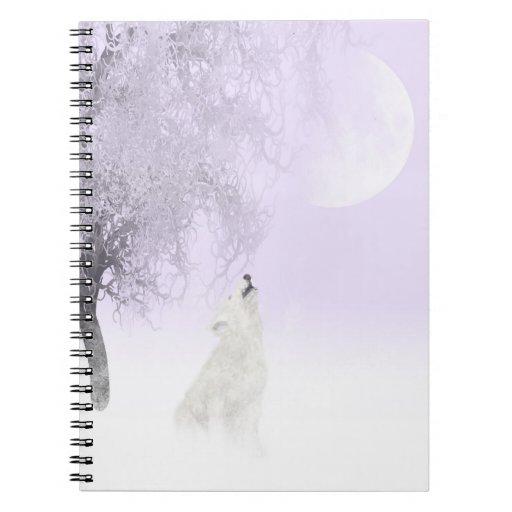 Lobo blanco del grito cuaderno