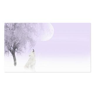 Lobo blanco del grito tarjetas de visita