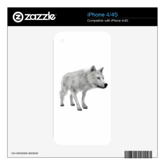lobo blanco iPhone 4 skin