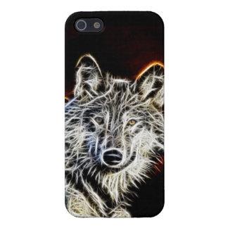 Lobo brillante de Fractalius iPhone 5 Funda