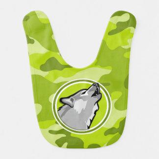 Lobo; camo verde claro, camuflaje babero