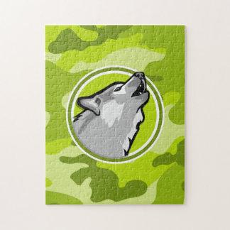 Lobo; camo verde claro, camuflaje puzzle con fotos