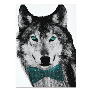 """Lobo con los ojos azules invitación 4.5"""" x 6.25"""""""