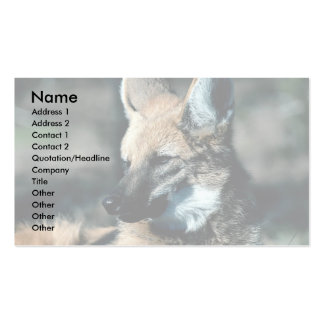 Lobo crinado, primer tarjetas de visita