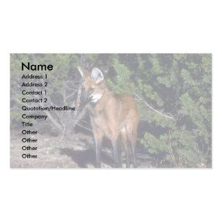 Lobo crinado tarjetas de visita