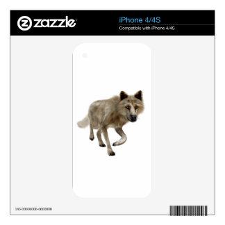 Lobo de Brown iPhone 4S Calcomanía