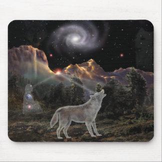 Lobo de la estrella alfombrilla de ratón