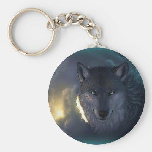 Lobo de la fantasía llaveros personalizados