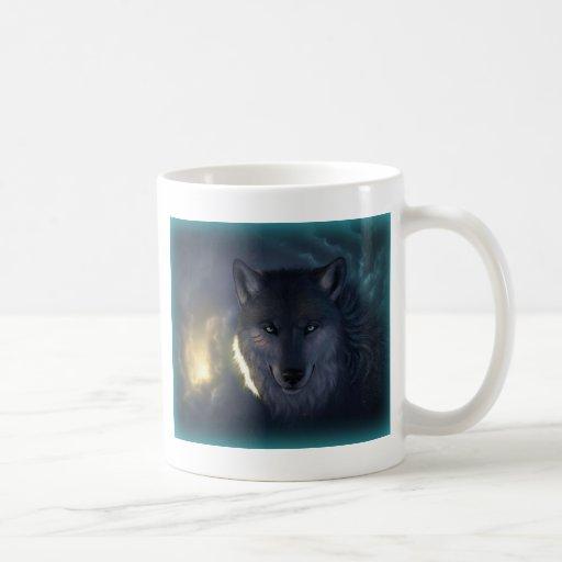 Lobo de la fantasía taza clásica